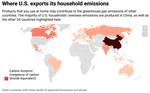 Scale, Distribution and Variations of Global Greenhouse Gas Emissions Driven by U.S. Households